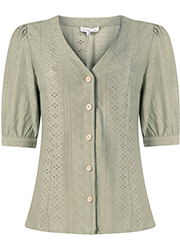 Jersey Broderie Blouse