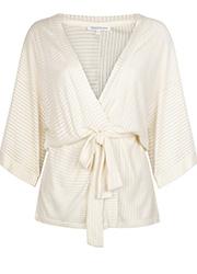 Kimono met Gestreepte Structuur
