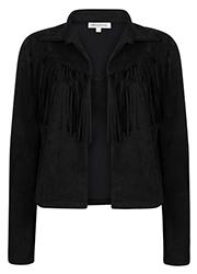 Suedine Jacket met Franje Details