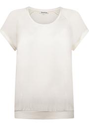 T-shirt met Satijnen Raglan Mouwen