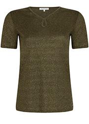 Lurex T-shirt met Keyhole