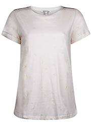 T-shirt met Geborduurd Patroon