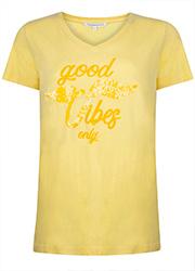 T-shirt met Pailletten Borduursel