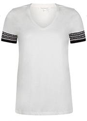 T-shirt met Geborduurde Boord