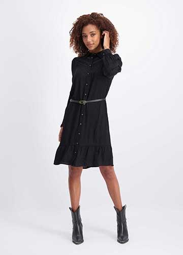 Dress L/S Viscose Jacquard