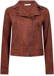 Suedine Biker Jacket