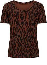T-Shirt met Ikat Print