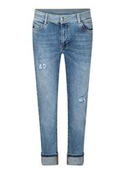 Jeans met Lichtbeschadigde Details