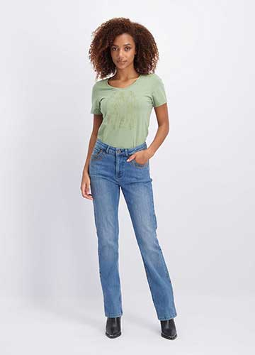 Jeans Straight Flared