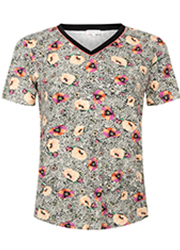 Animal T-shirt met Bloemenprint