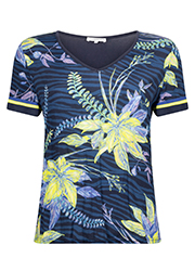 T-shirt met Allover Bloemenprint