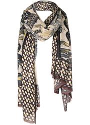 Sjaal met Bladprint