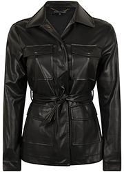 Fake Leather Blouse Jacket