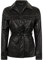 Fake Leather Blouse Jacket