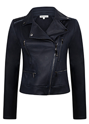 Coated Biker Jacket