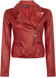 Jacket Biker Coated