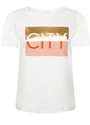 T-shirt met Tekstopdruk
