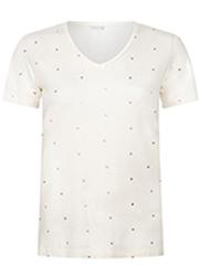 T-shirt met Stippen
