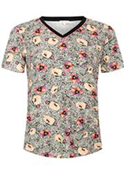 Animal T-shirt met Bloemenprint