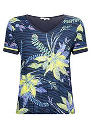 T-shirt met Allover Bloemenprint