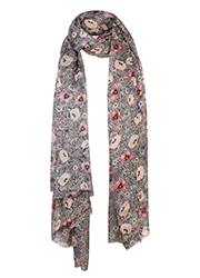 Sjaal met Bloemenprint en Animal Dessin