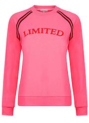 Roze Sweater met Tekstopdruk