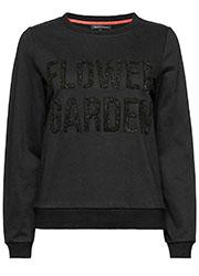 Sweater met Geweven Tekst