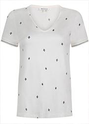 Wit T-shirt met Etnisch Motief