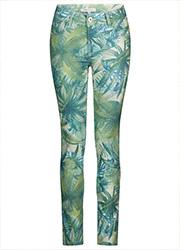Skinny met Groene Print