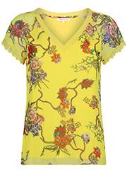 Top met Gele Bloemenprint