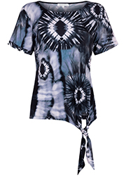 T-Shirt Met Tie-Dye Print