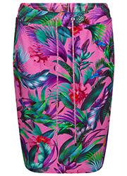 Roze Rok met Tropische Print