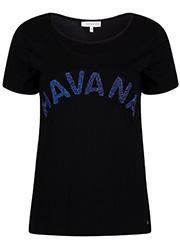 Zwart T-shirt met Glitter Tekst