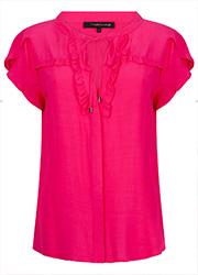 Roze Top met Ruches