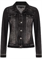 Zwart Denim Jacket met Borduursels