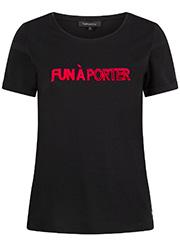 Zwart T-shirt met Tekstopdruk