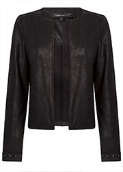 Coated Suedine Jacket met Studs