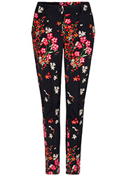 Travel Pantalon met Bloemenprint