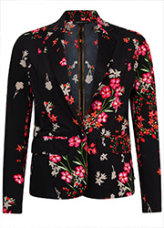 Travel Blazer met Bloemenprint