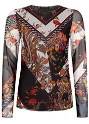 Top met Patchwork Print