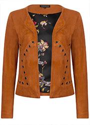 Caramelkleurig Suedine Jacket