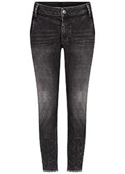 Zwarte 7/8 Jeans met Borduursels