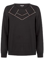 Zwarte Sweater met Studs