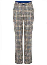Geruite Jacquard Pantalon