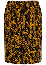 Jacquard Rok met Chain Print