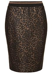 Suedine Rok met Luipaardprint