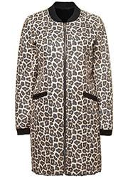 Reversible Suedine Fake Fur Jas met Luipaardmotief