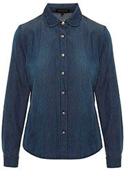 Chambray Blouse met Studs
