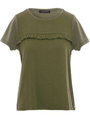 Tencel T-shirt met Ruches