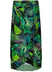 Wikkelrok met Groene Jungle Print